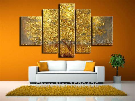 tree modern canvas art wall decor landscape oil painting wall art designs five piece canvas wall art handpainted