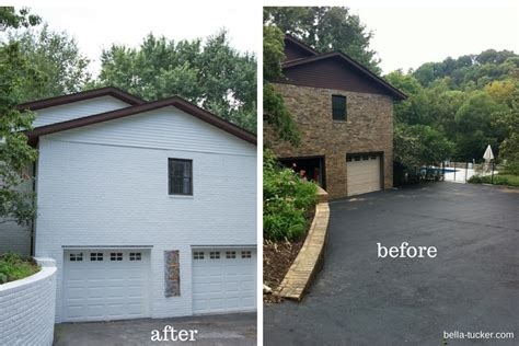 exterior brick paint before and after white painted brick exterior before and after