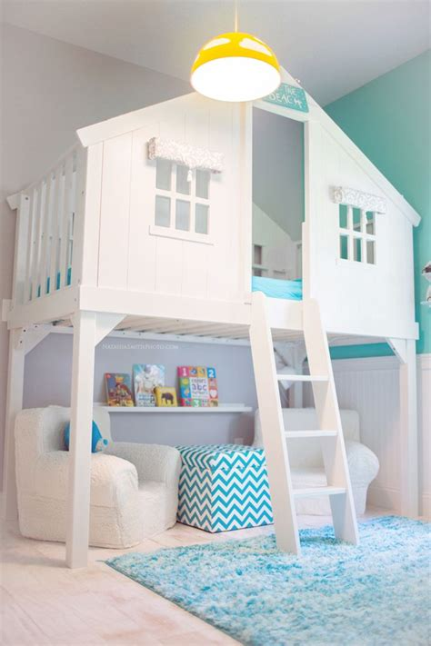 cool kids bedroom tree house bed via house of turquoise and other totally