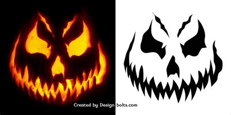 evil pumpkin template 10 free scary pumpkin carving stencils patterns