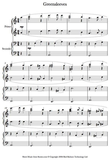 tutorial piano greensleeves greensleeves sheet music for piano duet piano