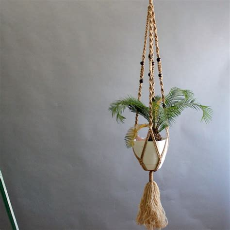 Macrame Hanging Plant Holders - 5 ft macrame hanging plant holder macrame plant holder