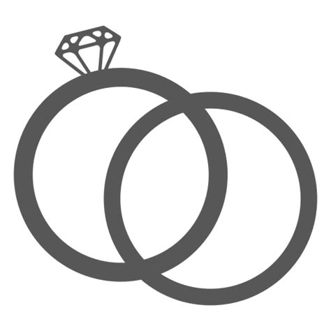 wedding ring icon transparent png svg vector