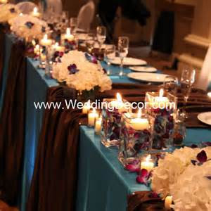 brown decorations eliya s purple wedding centerpiece created by dolce