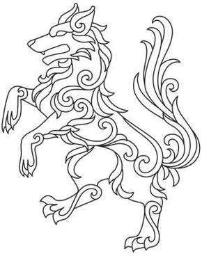 Gilded Heraldry - Wolf_image | Embroidery patterns