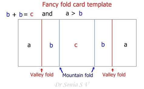 fold out cards template cards crafts projects fancy fold pop up dangler card