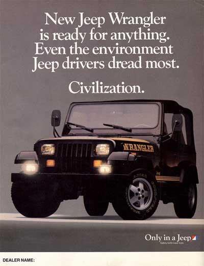 jeep wrangler ads 1988 jeep wrangler ad jeep dreads
