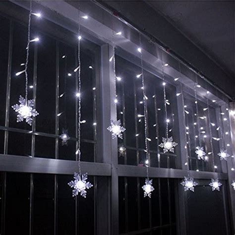 White String Lights For Bedroom Liangsm 3 5m 96 Led Lights Curtain Icicle Starry