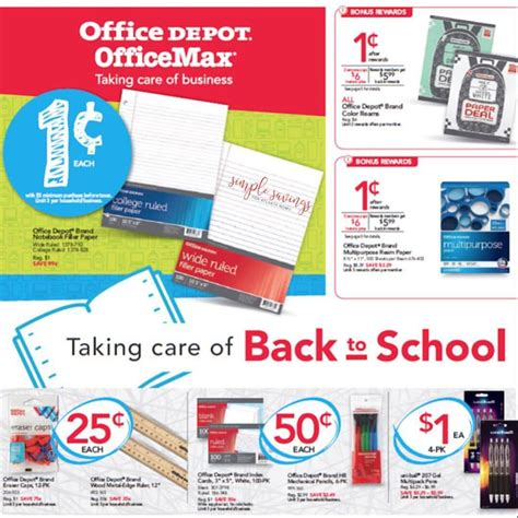 office depot coupons mommy saves big office depot office max upcoming deals starting 7 30 17