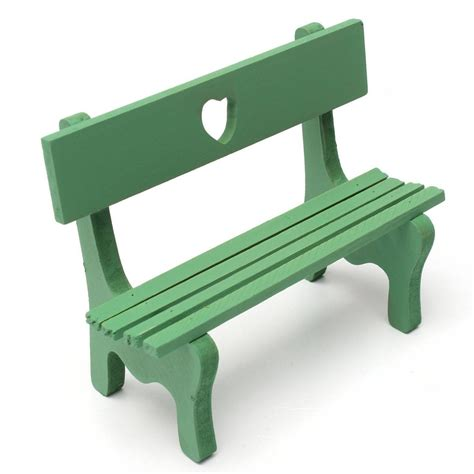 green garden bench miniature landscape plant diy craft garden decor green