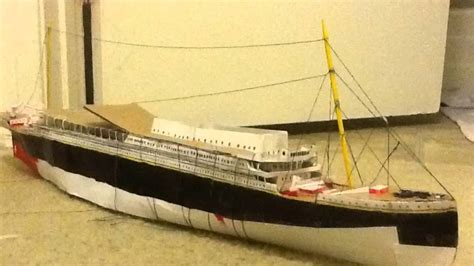 How To Make The Titanic Out Of Paper - paper model titanic tutorial coming soon