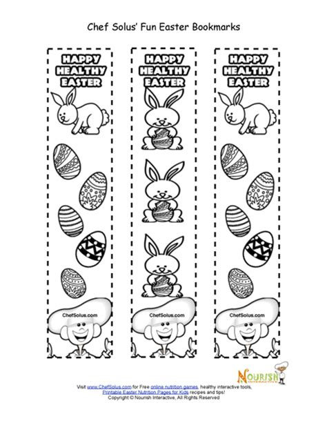 printable easter bookmarks to colour bookmarks for all occasions