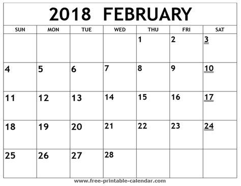 printable february 2018 calendar printable 2018 february calendar print 2018 calendar
