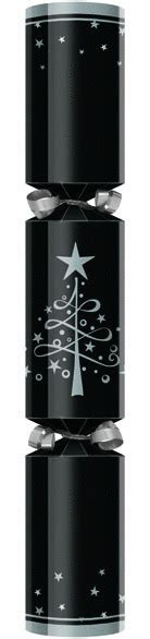 black silver tree star 12 quot christmas cracker novelties