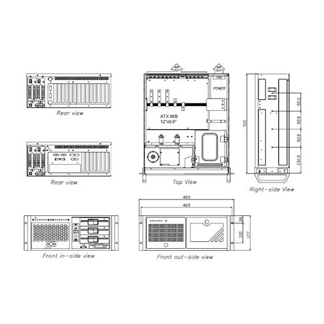 Rack Mount Dimensions by 4u Rack Mount Pc In A 20 Quot Depth High Rack Mount Chassis
