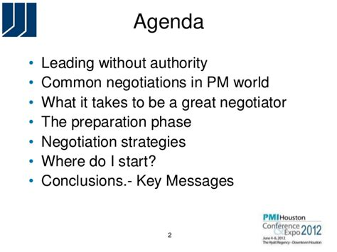 Negotiation Notes Mba by Negotiation Strategies For Project Managers