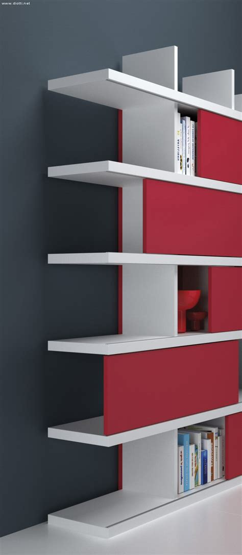 librerie particolari ecco il particolare costruttivo della libreria con