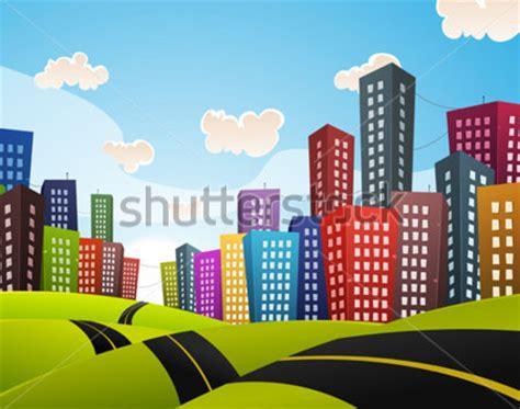 imagenes de paisajes urbanos animados carretera del centro de la ciudad paisaje de dibujos