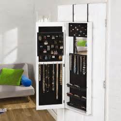 the door mirrored jewelry armoire tree