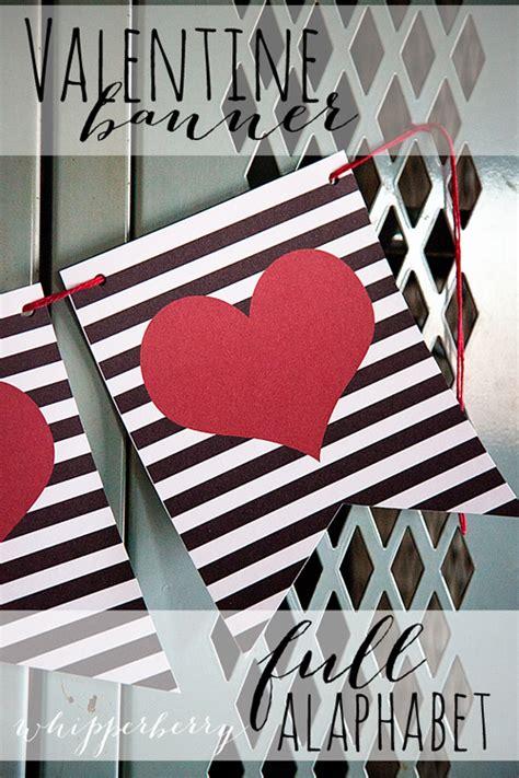 printable valentine banner  whipperberry skip   lou