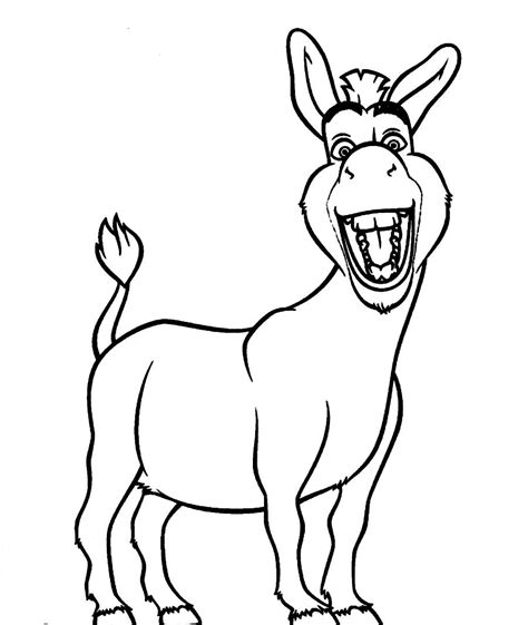 donkey coloring pages preschool free coloring pages of donkey from shrek