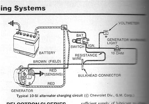 3 wire alternator wiring diagram chevy 28 images