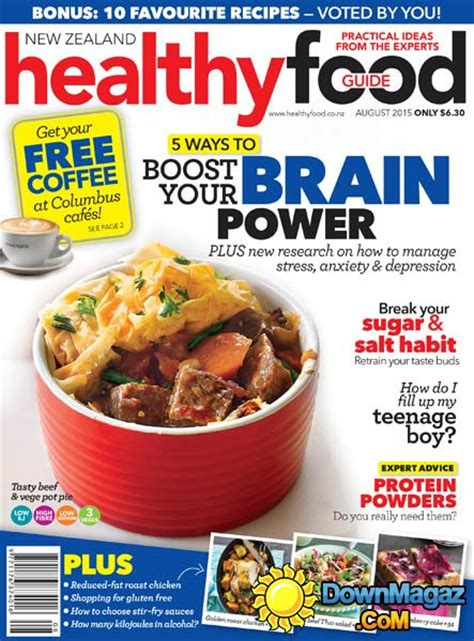 guide cuisine magazine healthy food guide nz august 2015 187 pdf