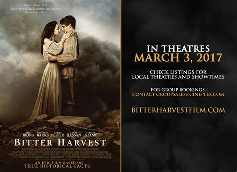 bitter harvest now showing in additional theatres from march 9th to 16th ukrainian canadian
