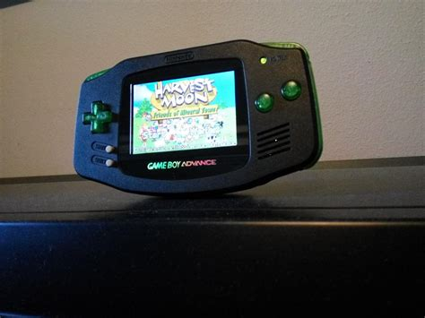 mod gameboy sp gr gameboy advance black transparent green 101