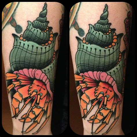 hermit crab tattoo hermit crab by frenzel underwater