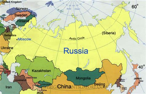 map of russia in europe and asia map of asia russia my
