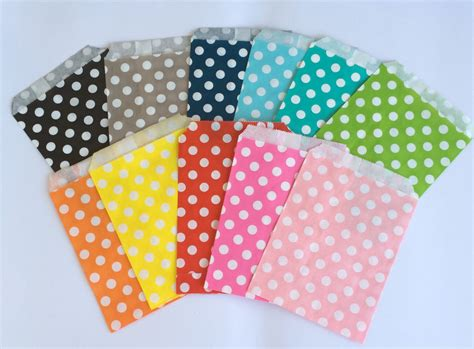 favor bags for buffets polka dot favor bags 5x7 paper treat bags buffet