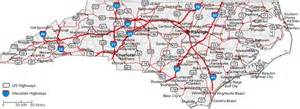 carolina state road map carolina state road map with census information