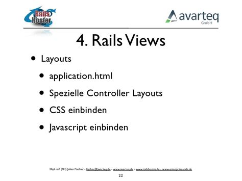 layout css rails ruby on rails vorlesung 4 rails views