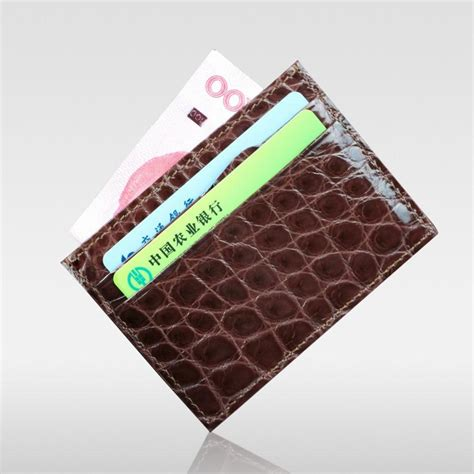 Gesper Rel Crocodille Leather Quality quality luxury genuine real croco alligator leather business card holder crocodile leather