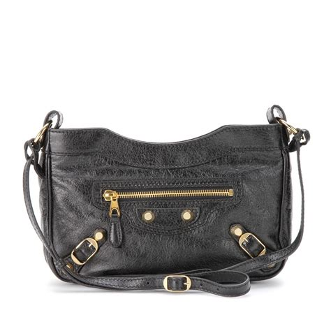 Balenciaga The Shoulder by Balenciaga Hip Shoulder Bag In Black Noir Lyst