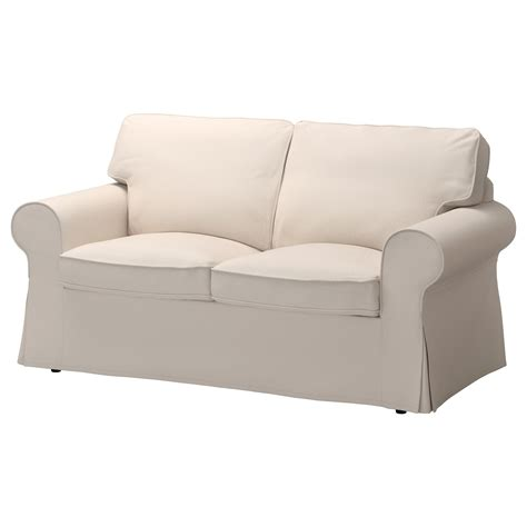 Ektorp Cover Two Seat Sofa Lofallet Beige Ikea Covers For Ikea Ektorp Sofa