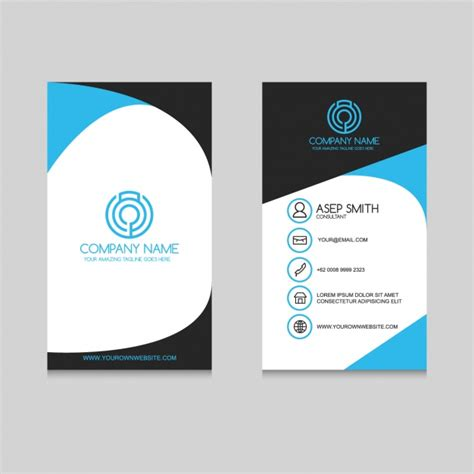 Business Card Template Freepik by Business Card Template Design Vector Free
