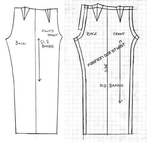 printable pants template fashion doll stylist panting for more video