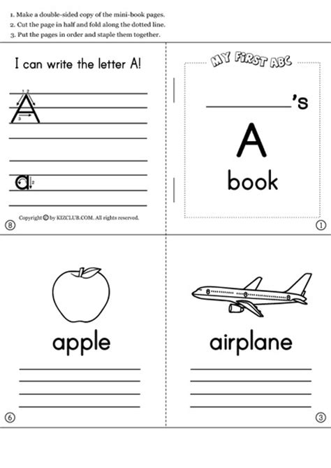 printable alphabet book template learning the alphabet and initial sounds collection