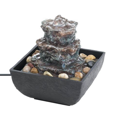 wholesale rock tower tabletop fountain indoor