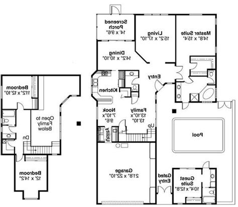 southwest floor plans southwestern house plans with photos