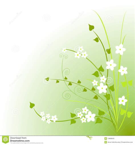 imagenes verdes para facebook flores verdes stock de ilustraci 243 n ilustraci 243 n de