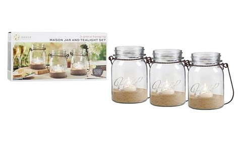 order home collection hanging jar and tealight set