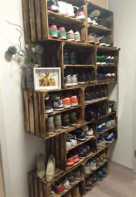 diy shoe storage best 25 shoe racks ideas on diy shoe rack