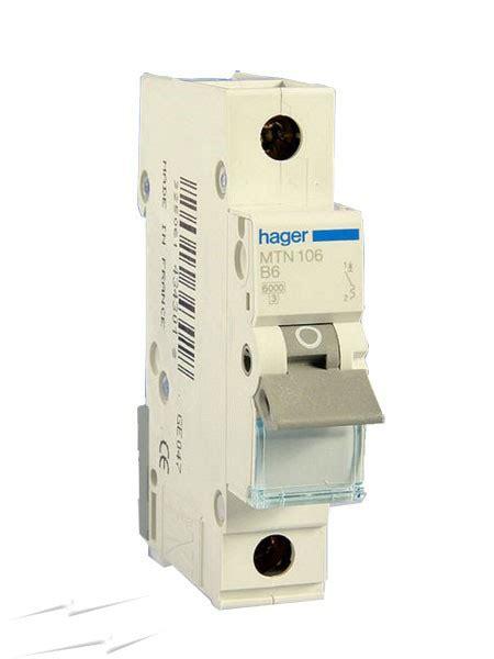 Mini Circuit Breaker Mcb 1 Phase 20 25 32 40a mt106 hager mt106 6a 1 pole type b 6ka miniature circuit breaker single pole mcb