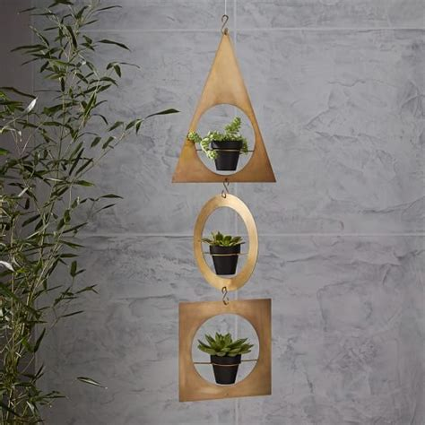 west elm hanging planter geometric metal hanging planter west elm