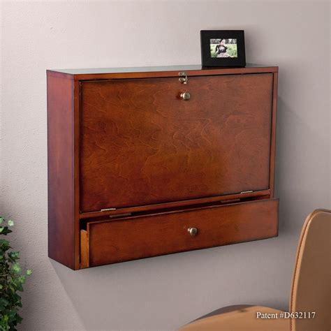 Wallmount Desk by Sei Wall Mount Laptop Desk Brown Mahogany