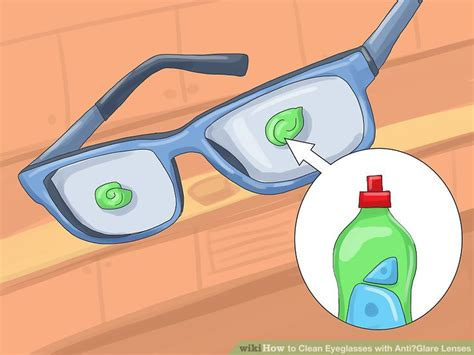 how to clean lens 3 ways to clean eyeglasses with anti glare lenses wikihow