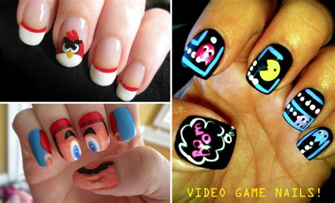 design nail art games fashion geek video game manicures tng times new geek